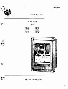 geh 1814j voltage relays types iav51a 52a 53a 53b 53c With general electric relay manuals