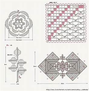 Ergahandmade  Lace Crochet Square With Flower   Diagrams