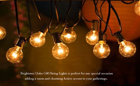 100ft G40 Globe String Lights With 100clear Bulbs, Outdoor