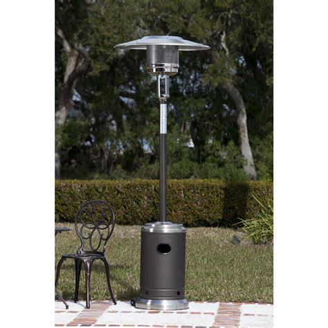 commercial grade patio heater stainless steel and mocha