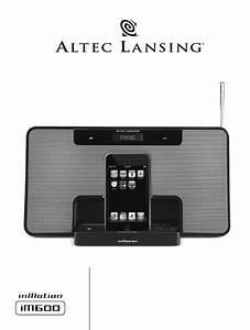 Download Altec Lansing Mp3 Docking Station Im600 Manual