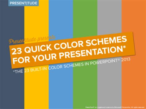Powerpoint Template Color Scheme by 23 Color Themes Ready To Use In Powerpoint 2013