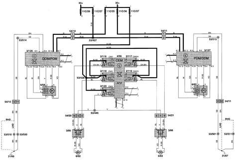 volvo v70 2000 2001 wiring diagrams power windows