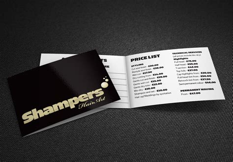 Hairdressers Logo And Folded Business Card & Price List Design Instant Business Letter Kit Re Letters Cc Yours Sincerely Most Letterhead Is ____ Inches Greeting No Name Card Design Cape Town Generator