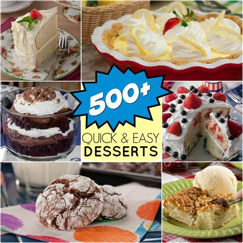 easy dessert recipes 501 great dessert recipes for any occasion mrfood