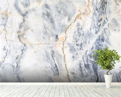white  blue marble effect wallpaper wall mural