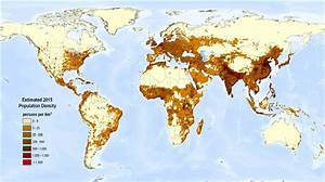 FreshPlaza.com : Map of world population density