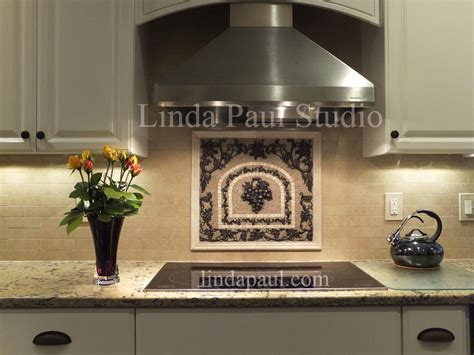 kitchen backsplash medallions grapes mosaic tile medallion kitchen backsplash mural mosaics