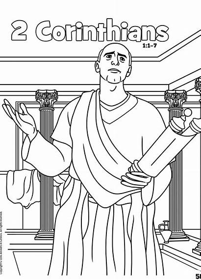 Coloring Bible Corinthians Books James Galatians Activities