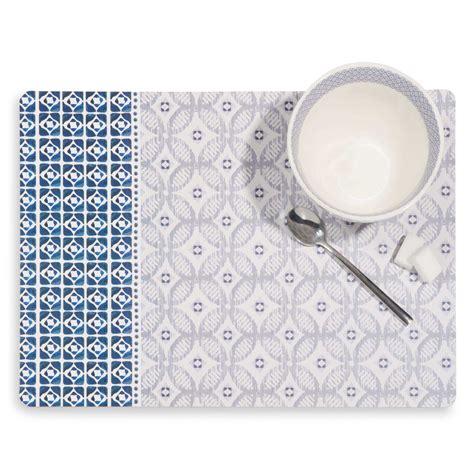 elegant set de table en lige motifs carreaux de ciment