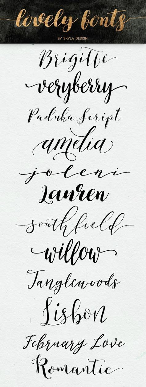 Best 25+ Calligraphy Fonts Free Ideas On Pinterest