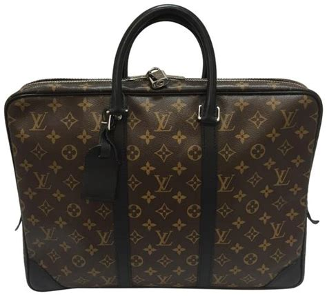 louis vuitton porte documents voyage porte brown monogram