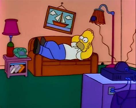 qui pisse sur le canap gags du canapé de la saison 3 the simpsons park toute
