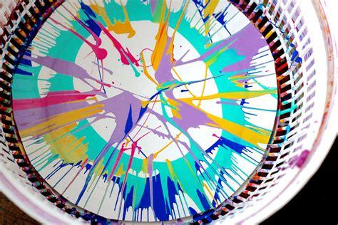 salad spinner painting project allfreekidscraftscom