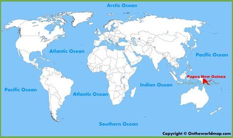 papua  guinea location   world map