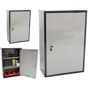 Small Metal Cupboard by Lockable Metal Garage Shed Storage Cabinet Wall Unit Tool