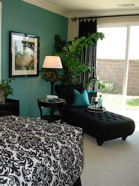 turquoise black and white bedroom aqua with grey or