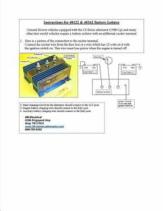 Cole Hersee Battery Isolator Wiring Diagram  With Images