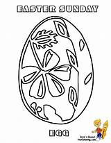 Easter Egg Coloring Pages Fancy Basket Yescoloring Boys Printouts sketch template