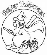 Halloween Witch Crayola Coloring Sheets Witches Fall Crafts Happy sketch template