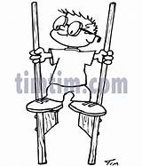 Stilts Coloring Pages Template Sketch Drawings sketch template