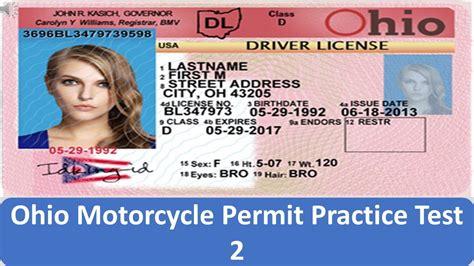 Ohio Motorcycle Permit Practice Test 2 Youtube