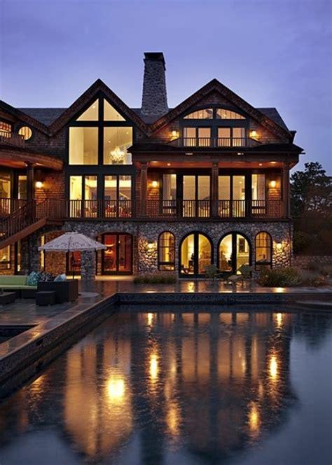 large craftsman home walkout basement pool favethingcom