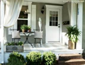 side porches our vintage home back side porch ideas for summer and an industrial pipe curtain rod how to