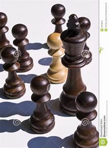 Chess Pieces: White Pawn Near Black King Stock Photo ...