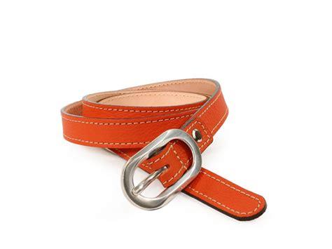 ceinture sur mesure orange femme en cuir ceinture cuir