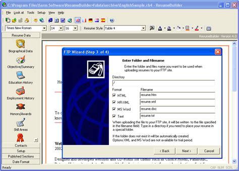 Resume Builder Program by برنامج عمل السيرة الذاتية باحتراف Resume Builder V4 3