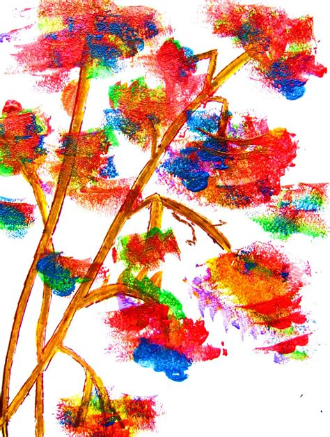 Colormehappy Sponge Paintingfun To Do Easy Art Lesson For Children