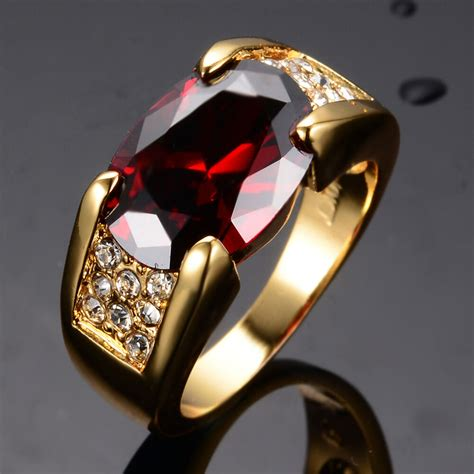 noble ruby engagement rings s s yellow gold filled band size 7 12 ebay