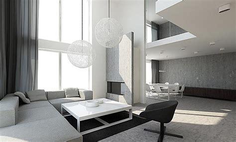 Minimalist White Living Room Interior Design Ideas With