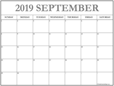 monthly september calendar printable template