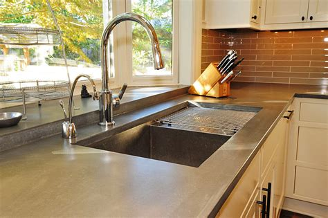 concrete kitchen countertops awesome quartzite countertops pros and cons homesfeed