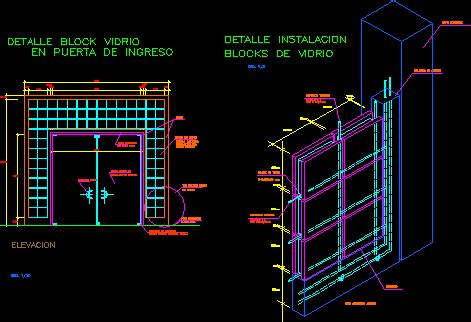 glass block brick detail dwg detail  autocad designs cad