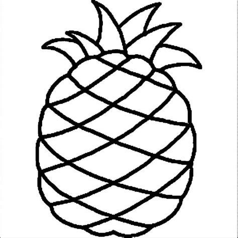 15 gambar mewarnai buah nanas untuk tk dan sd