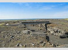 Miðlína Brücke zwischen den Kontinenten