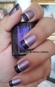 Matte French Nails Purple
