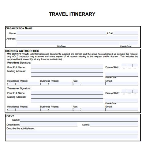trip itinerary maker travel itinerary template 5 download documents in pdf