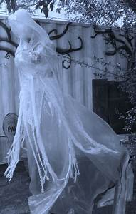 Floating, 7ft, Tall, Packing, Tape, Cheesecloth, Ghost, Halloween, Prop, Finished, Today, U2026