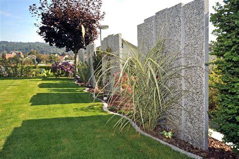 Granit Stelen Für Sichtschutzwand Im Garten St Basadsch