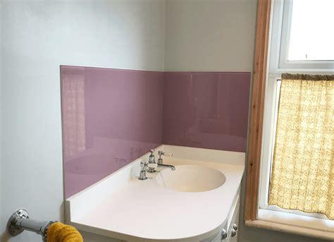 Badewannen Spritzschutz Glas by Dulux Dusted Fondant Bathroom Glass Splashback Pro Glass 4