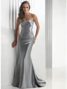 silver bridesmaid dress silver evening dress strapless in length prlog