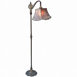 1920s spanish revival floor lamp with exceptional original With 1920 s wood floor lamp