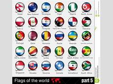 Flags Of All Countries In The 3d Ball Stock Vector