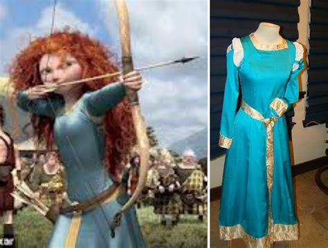 Princess Merida Brave Costume MEDIEVAL Blue Medieval Dress ...