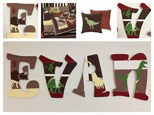 dinosaur land by sweet jojo inspired hand painted wooden With dinosaur wooden letters