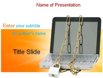 cyber security powerpoint template  templates vision tpt